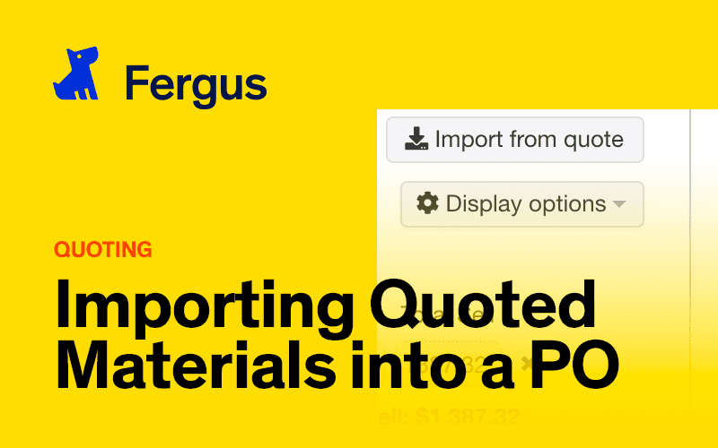 Importing Quoted Materials into a Purchase Order