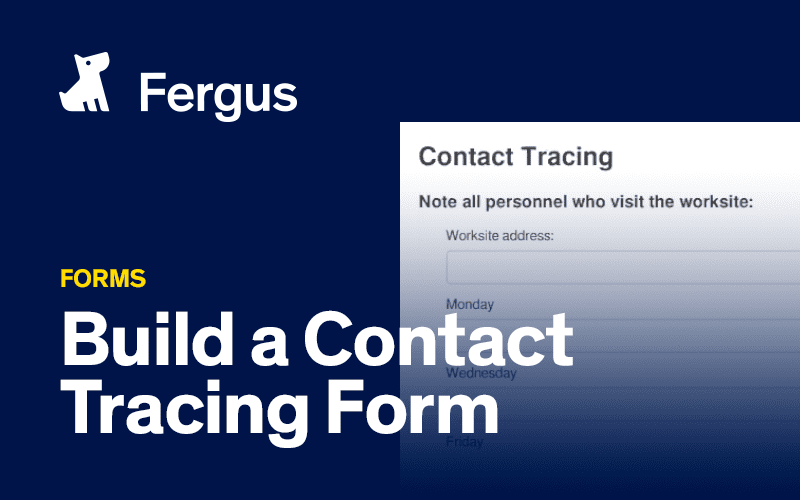Create a contact tracing form