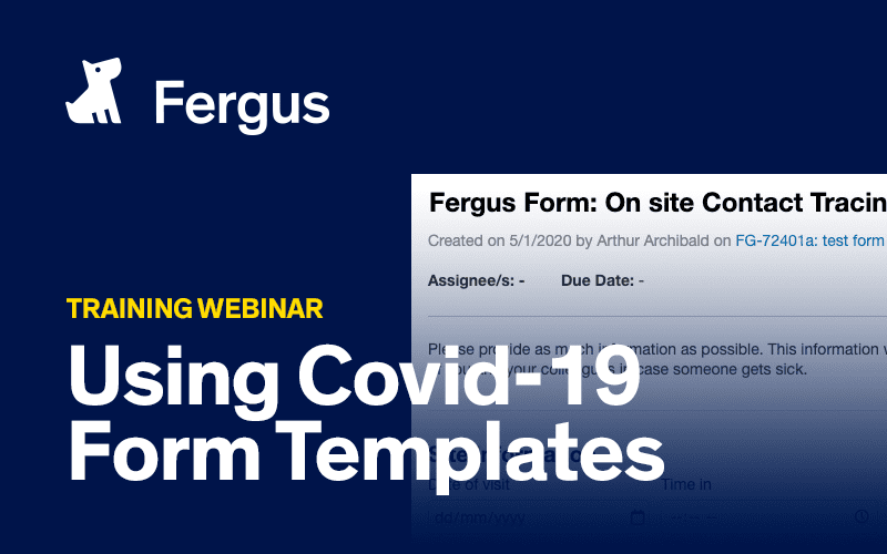 Using Covid-19 form templates