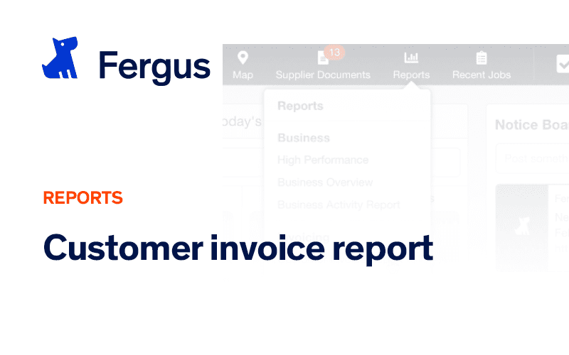 Customer Invoice Report