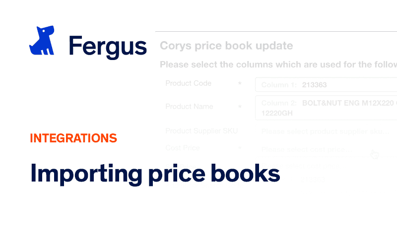 Importing Price Books