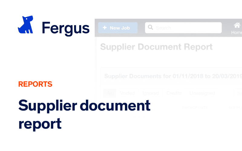 Supplier Documents Report