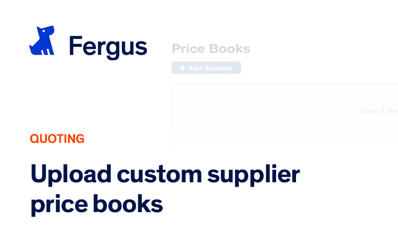 Uploading your own Custom Supplier Price Book