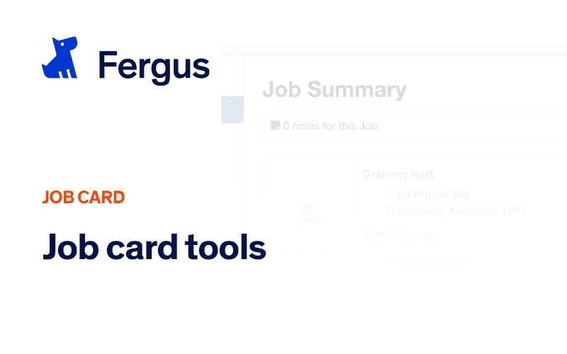 The Job Card tools