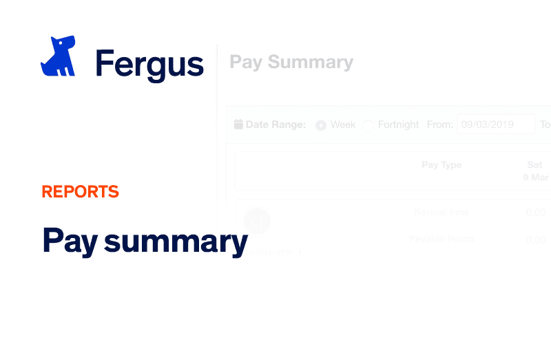 Pay Summary Report