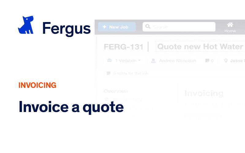 Invoicing a Quote