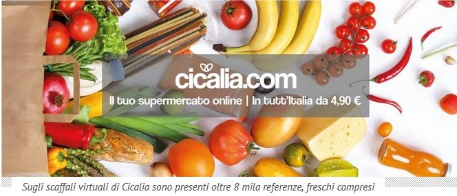 Immagine Cicalia: il primo supermercato online che consegna in tutta Italia. Anche i freschi