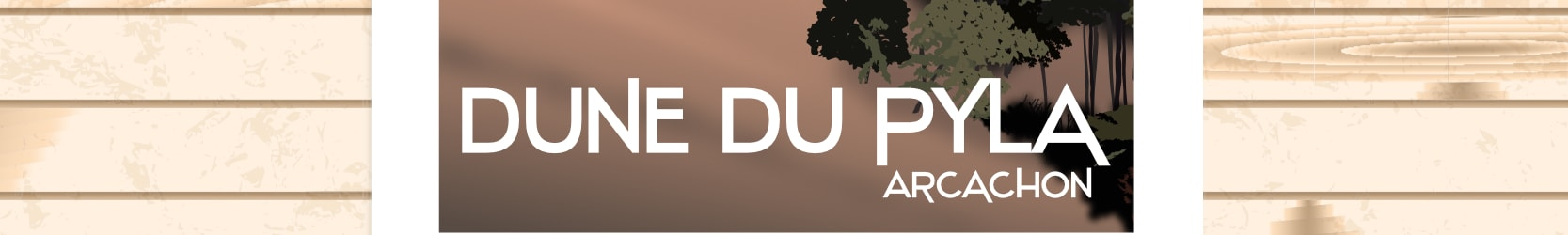 La Dune du Pyla – Jour d'orage – Affiche Bassin d'Arcachon