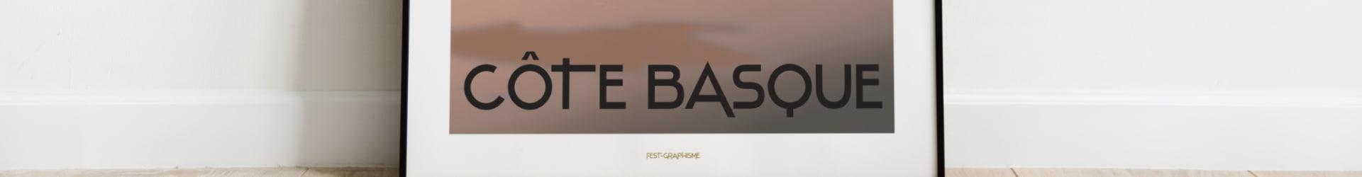 Morning Surf – Côte Basque – Affiche