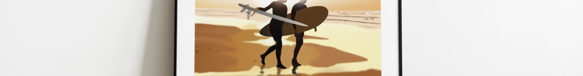 Surfers – Biarritz – Côte Basque – Affiche