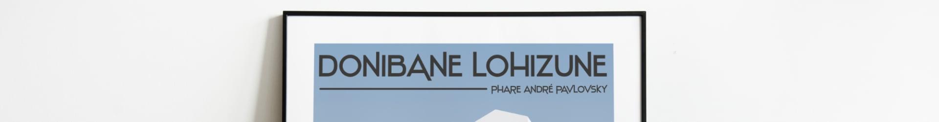 Donibane Lohizune – Phare – Affiche Pays Basque Saint Jean de Luz