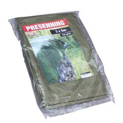 Presenning 3 x 5 m 120 gr grønn