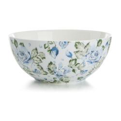 Skål Songvaar roser blåtoner Ø:14 H:6 cm