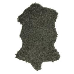Skinn Ulla m/fuskepels grønn 60x90 cm