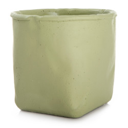 Urtepotte sement mosegrønn H:12,5 cm