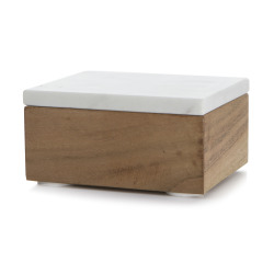 Skrin m/lokk marmor H:6 L:13 cm