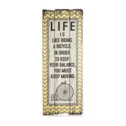 Skilt gult Life