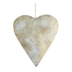 Hjerte m/heng antikk gull H:35 B:30 cm