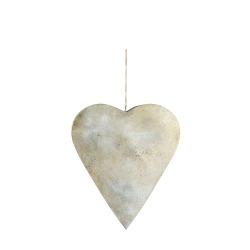 Hjerte m/heng antikk gull H:25 B:22 cm