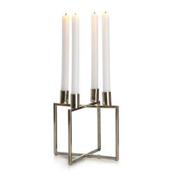 Lysestake/adventstake sølv kryss H:19 cm