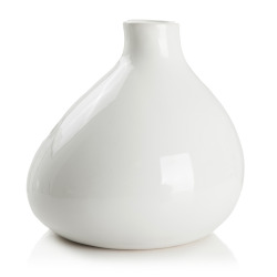 Vase hvit dolomite H:22 Ø:23 cm