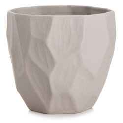 Telysglass retro grå H:7 cm