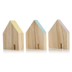 Hus 3 ass i tre H:10 cm