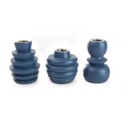 Lysestaker s/3 i PVC boks mørk blå