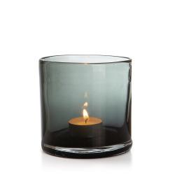 Telysglass Aske grå 10 cm