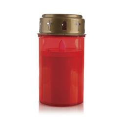 Gravlys rødt LED-lys, batteri