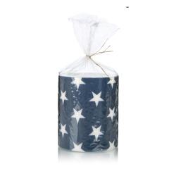 Kubbelys stjerner blå Ø:10,5 H:12 cm