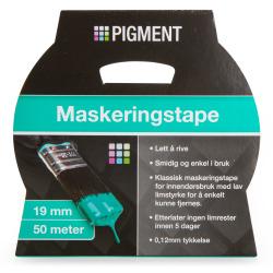 Maskeringstape 19 mm 50 m Pigment