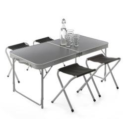 Pikniksett bord og 4 krakker