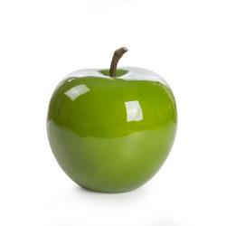 Dekoreple H:14 cm fiberstone grønn