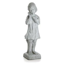 Jentefigur H:90 cm grå
