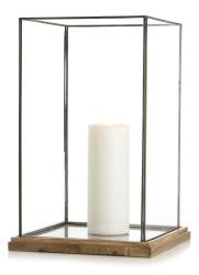 Madame Lykt Fredrikke glass/tre  H:51 B:32 D:32