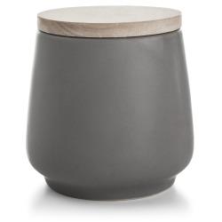 Oppbevaringsboks m/trelokk grå H:14 cm