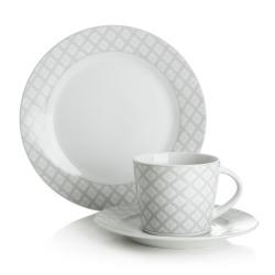 Kaffeservise grå 18 deler/6 personer porselen