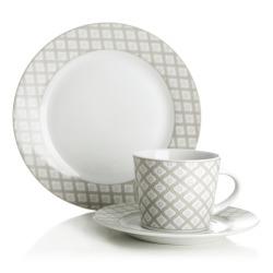 Kaffeservise beige 18 deler/6 personer porselen