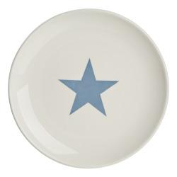 Tallerken Star lys blå Ø:28 cm