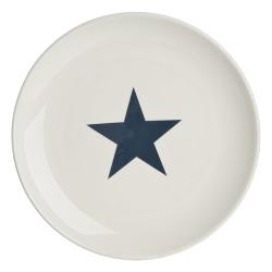 Tallerken Star mørk blå Ø:28cm