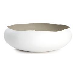 Bolle hvit/beige organisk Ø:28 cm