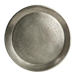 Lysfat m/mønster nikkel antikk Ø:50 cm