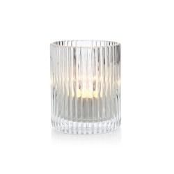Telysglass m/riller H:8cm