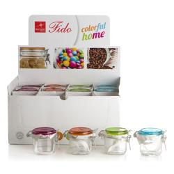Krukke Fido m/lokk blå/grønn/orange/rosa 0,2 liter