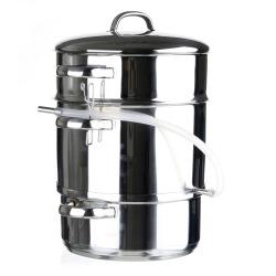 Saftkoker/pinnekjøttgryte 4 + 7,9 l stål