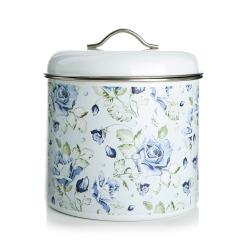 Boks Songvaar Blå blomstret H:20 Ø:18 cm