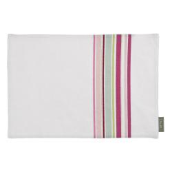 Spisebrikke Songvaar striper/hvit 48x33 cm