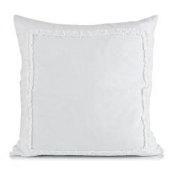 Putetrekk Adele 50x50 hvit m/ruflekant 100% lin