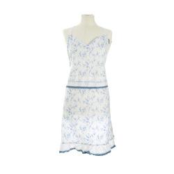 Forkle hvit med blå blader Songvaar